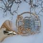 Gold brass Briz horn